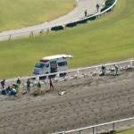 【競馬】京都6レースで大事故【3頭落馬】【動画有】
